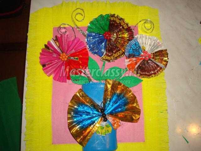 Цветы из подручных материалов мастер класс