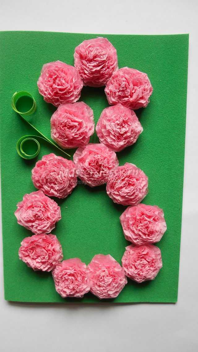 Квіти з салфеток своими руками 75