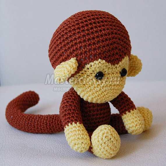 Вязаная обезьянка крючком: