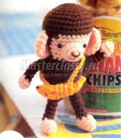 Вязаная обезьянка крючком: схема и подробное описание