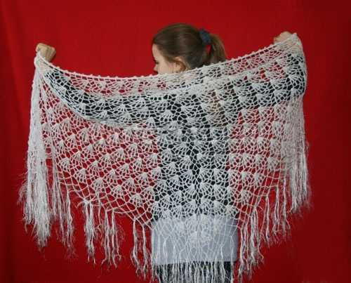 Схемы вязания шалей крючком: