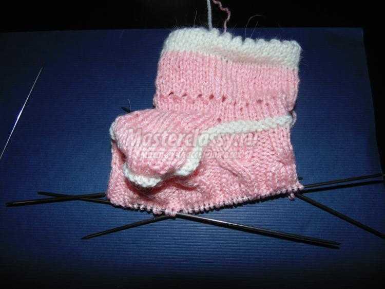 Вязание спицами пинеток - мастер-класс