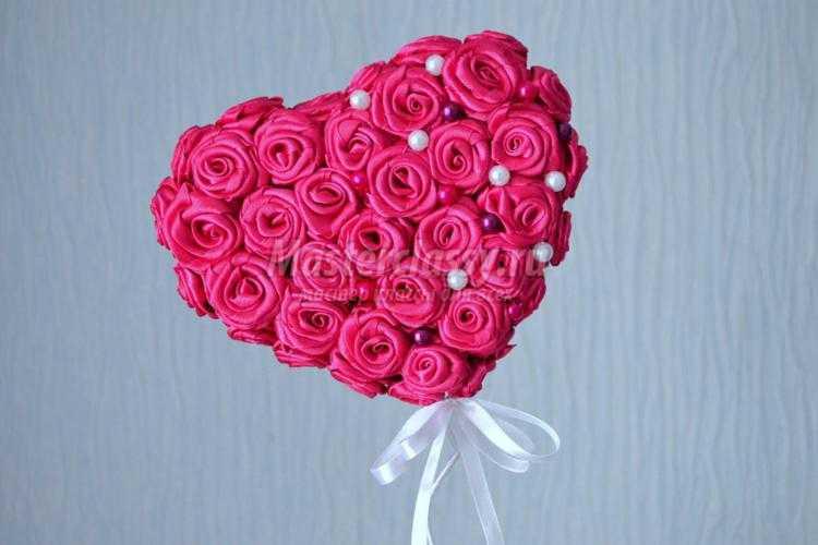 Как сделать сердце из роз своими руками пошаговое фото 93