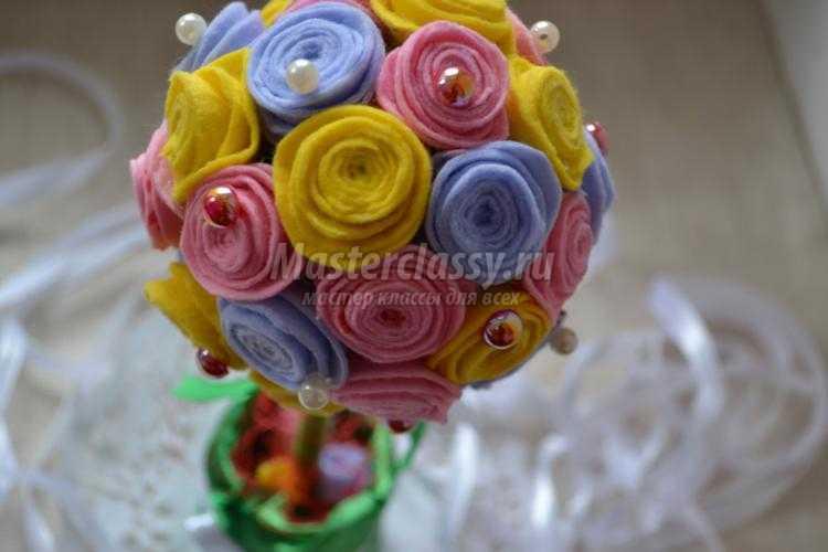 Розы из фетра своими руками мастер фото 622