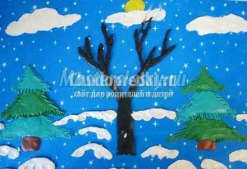 Аппликация на тему зима: лучшие мк с пошаговыми фото