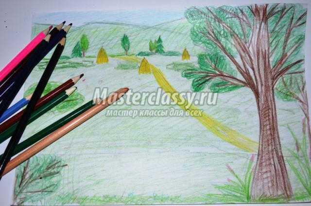 Картинки лето красивые карандашом своими руками