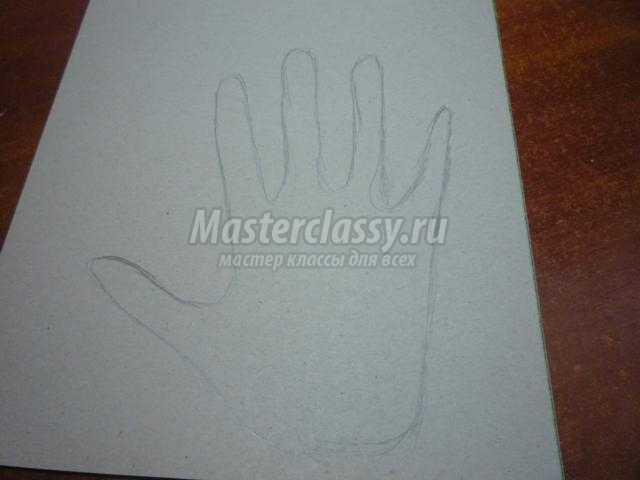 Мастер класс открытка ладошки
