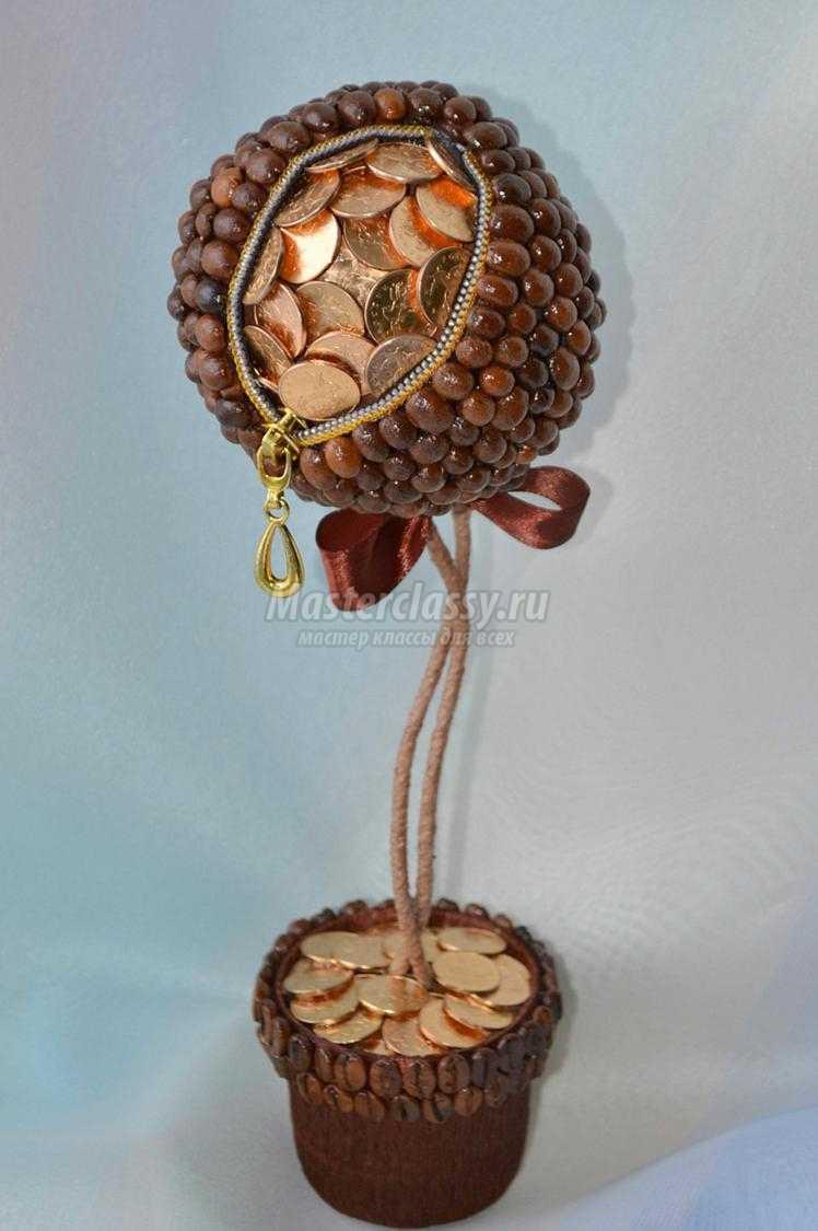 Дерево счастья с монетами