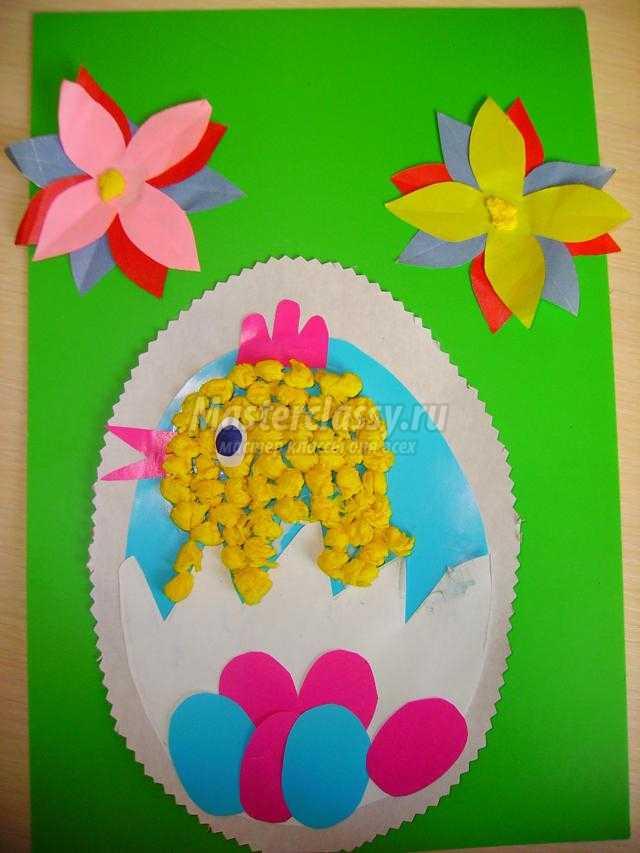 Пасхальные открытки из бумаги и картона