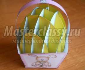 Мастер-класс. Пасхальное яйцо в технике киригами
