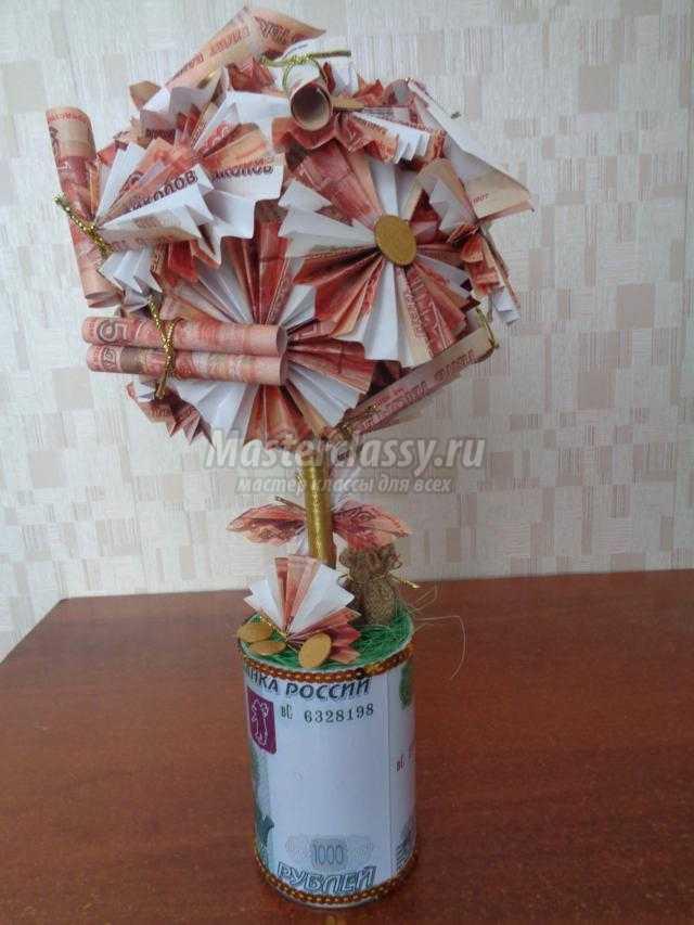 Дерево с конфет и денег своими руками 1