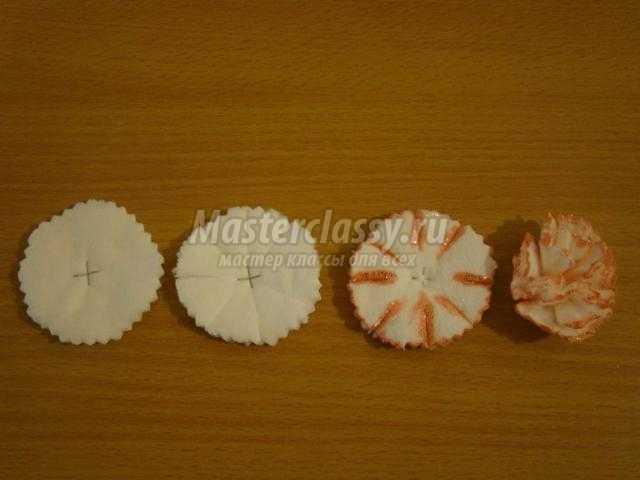 Как сделать гвоздики из ватных дисков видео - Rwxchip.ru