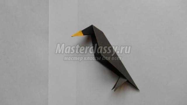 ворона в технике оригами