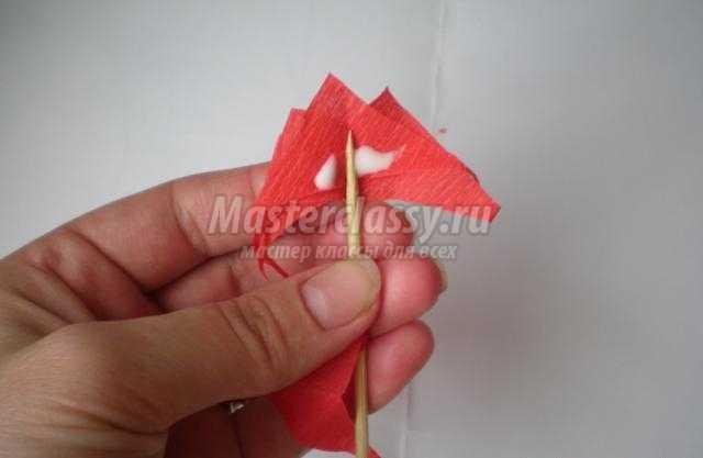 Гвоздики из гофрированной бумаги пошаговое