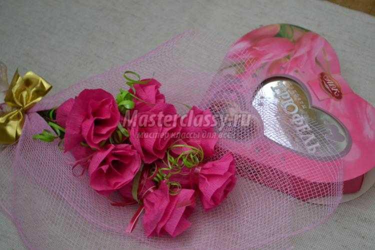 Сладкий букет роз своими руками мастер класс