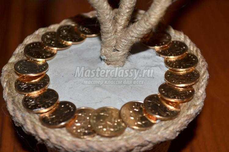 Видео мастер класс топиарий из монет 28