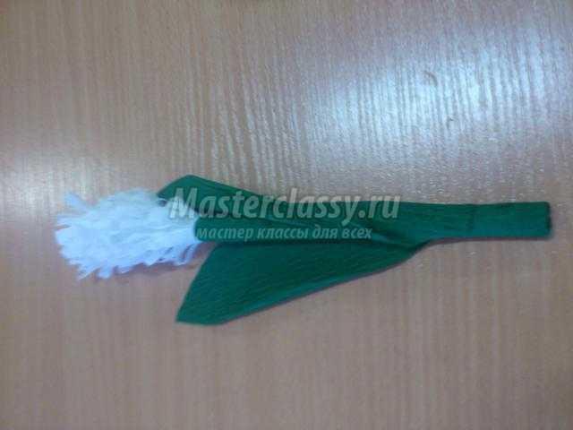 Волшебный гиацинт из гофрированной бумаги. Мастер-класс