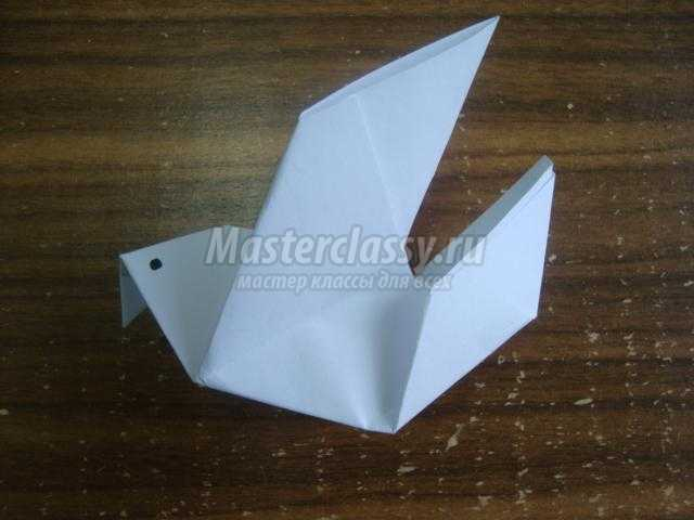 Голубь мастер класс оригами