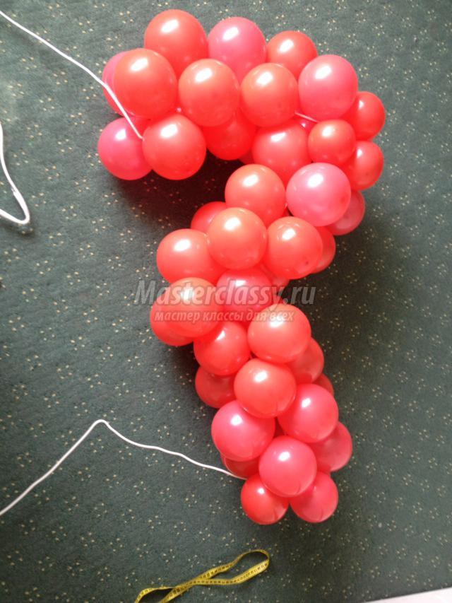 Как своими руками украшения из воздушных шаров 17