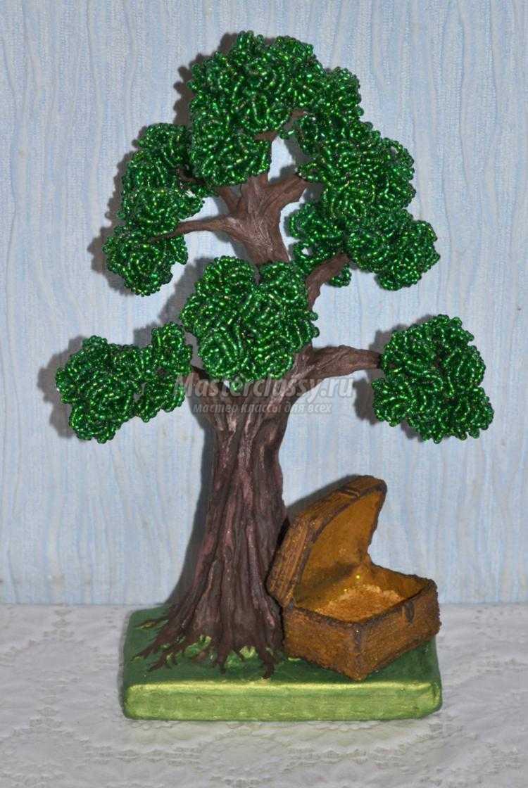 Вишня дерево из бисера мастер класс с пошаговым