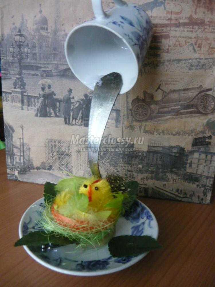 Мастер класс парящая чашка с вилкой