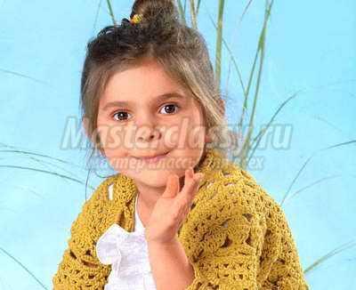 Болеро для девочки крючком: схемы и описание