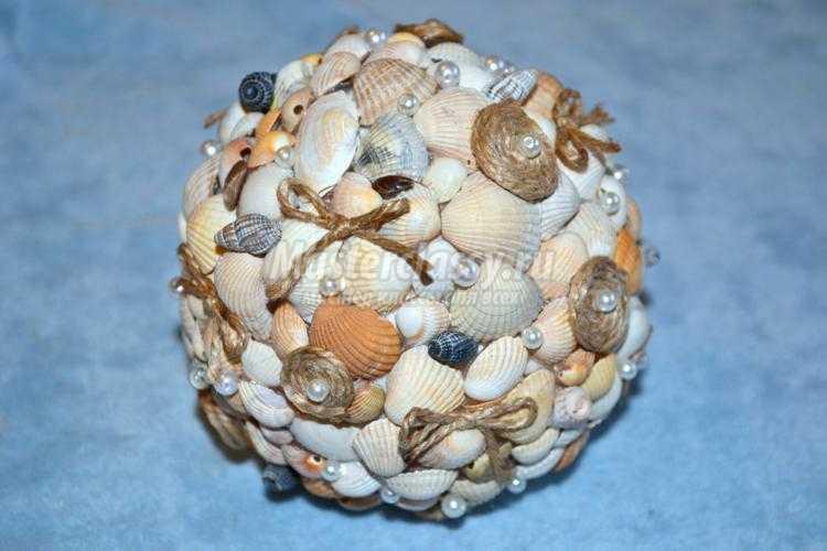 Как сделает топиарий из ракушек своими руками