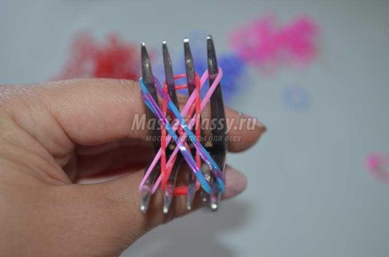 Как из резинок сделать браслеты с вилкой с