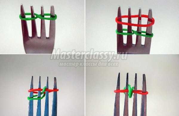 Пошаговое плетение браслетов из резинок