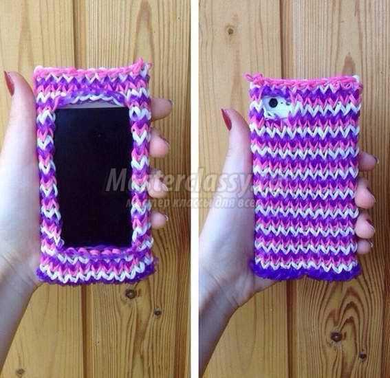 Чехол для телефона из резинок: ЧЕХОЛ для телефона iphone, ipod, smartphone, урок 22, от чего появляются родинки