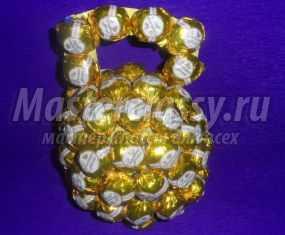 Подарок с конфетами своими руками для мужчин146