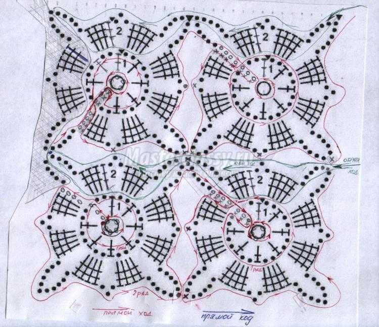 техника вязания жилета