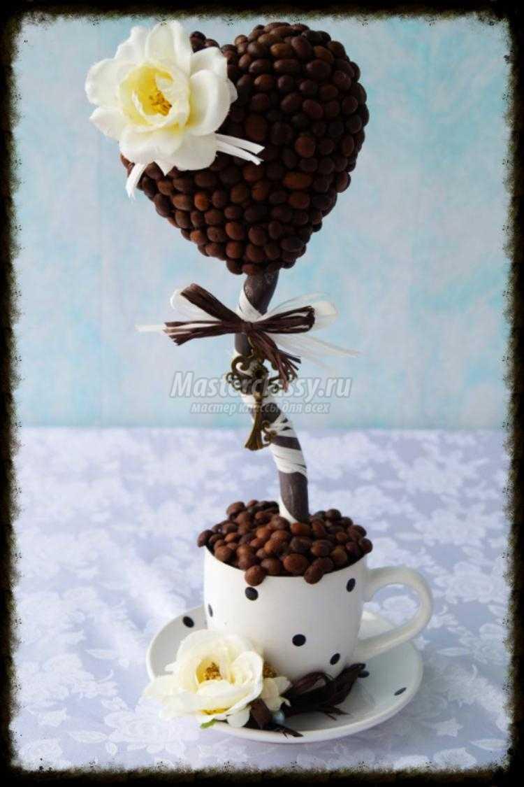 Как сделать дерево из зерен кофе