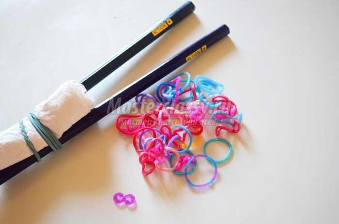 Легкие браслеты из резинок своими руками