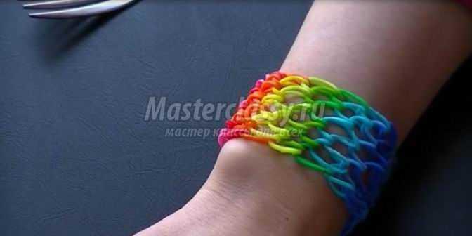 Как сделать из резинок браслет чешуя дракона без станка