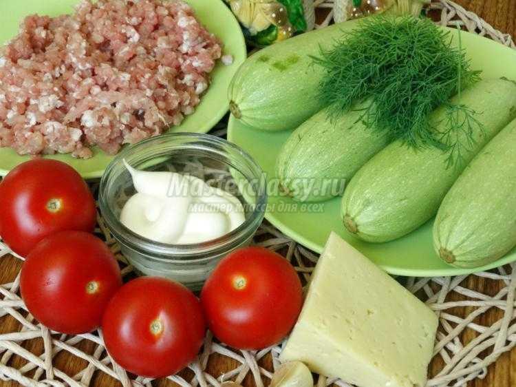 рецепт кабачков кружочками с фаршем в духовке с фото