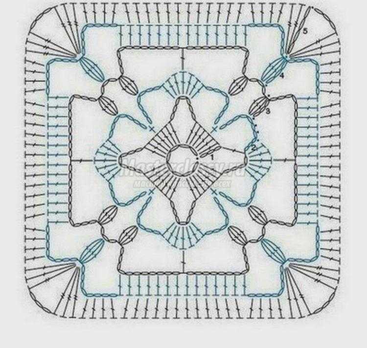 домашние тапочки крючком. Бабушкин квадрат