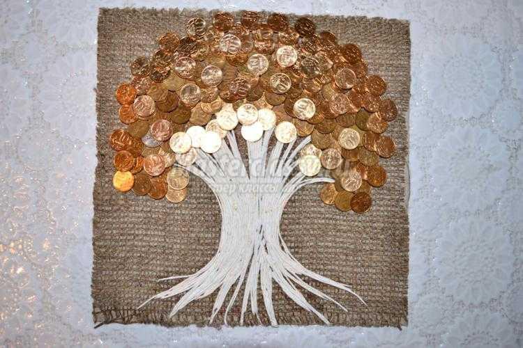 Денежное дерево своими руками из салфеток 42
