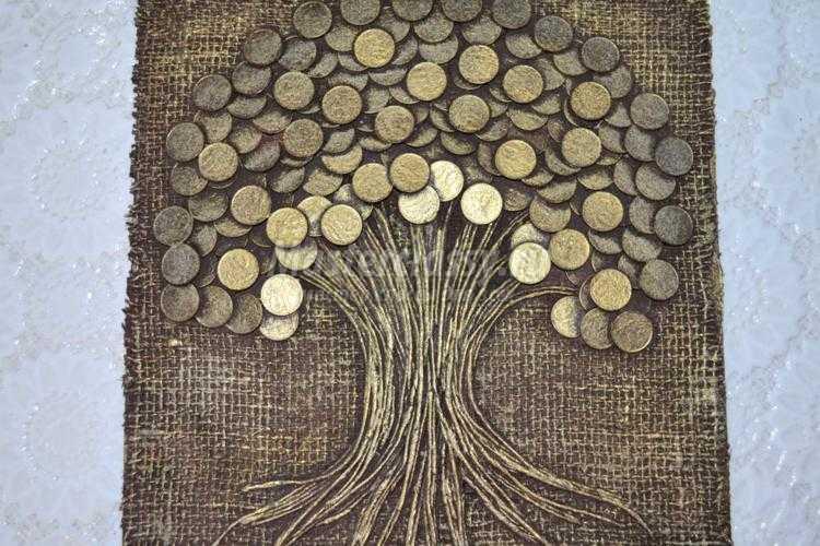 Панно из монет своими руками мастер 75