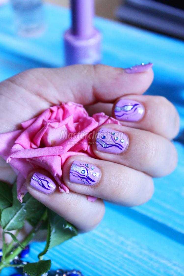 летний маникюр на коротких ногтях