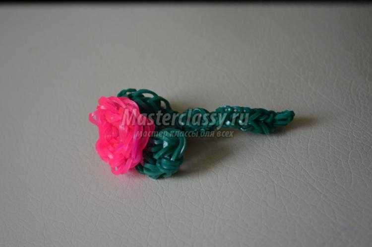 Роза из резинок мастер класс