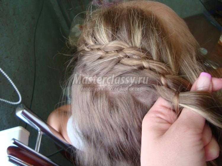 прическа для девочки с длинными волосами