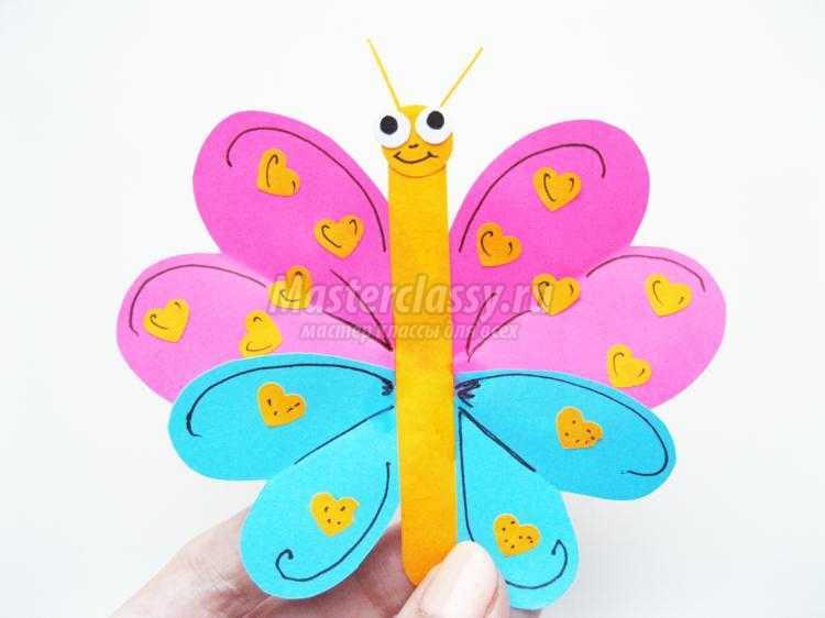 Поделка бабочка своими руками для детского сада 836