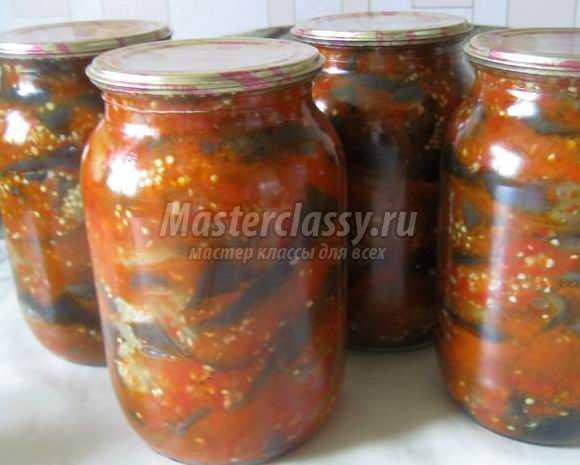 Салаты из баклажан рецепты на зиму