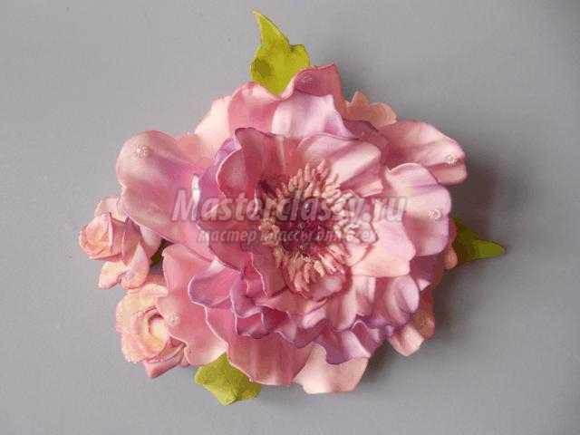 Цветы из фоамирана своими руками на ободок