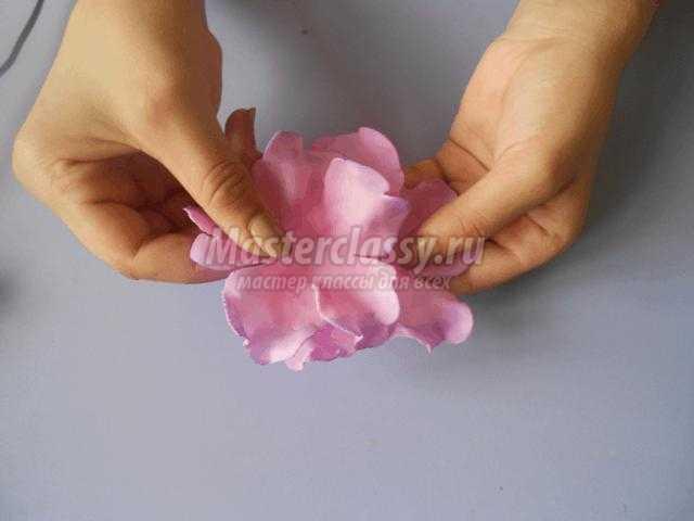 Ободок своими руками роза