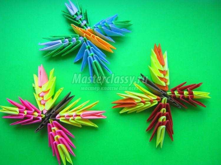 модульное оригами бабочка пошаговая инструкция - фото 4