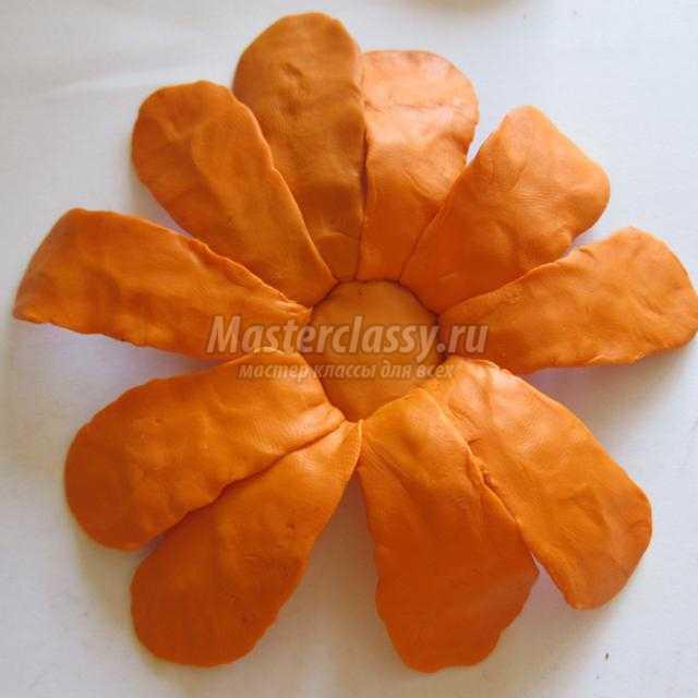 Как из пластилина сделать оранжевый цвет из