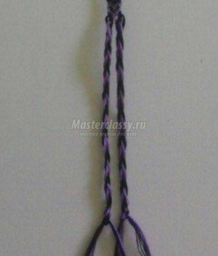 фенечки косым плетением. Схемы