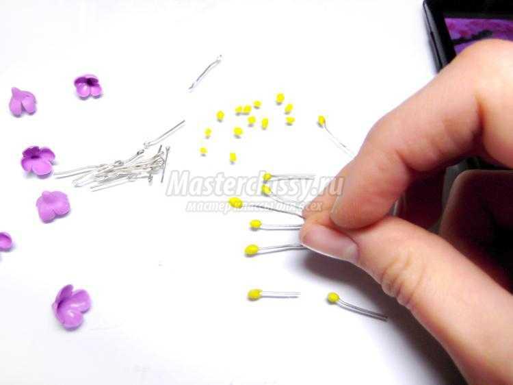 браслет из полимерной глины. Желтые нарциссы